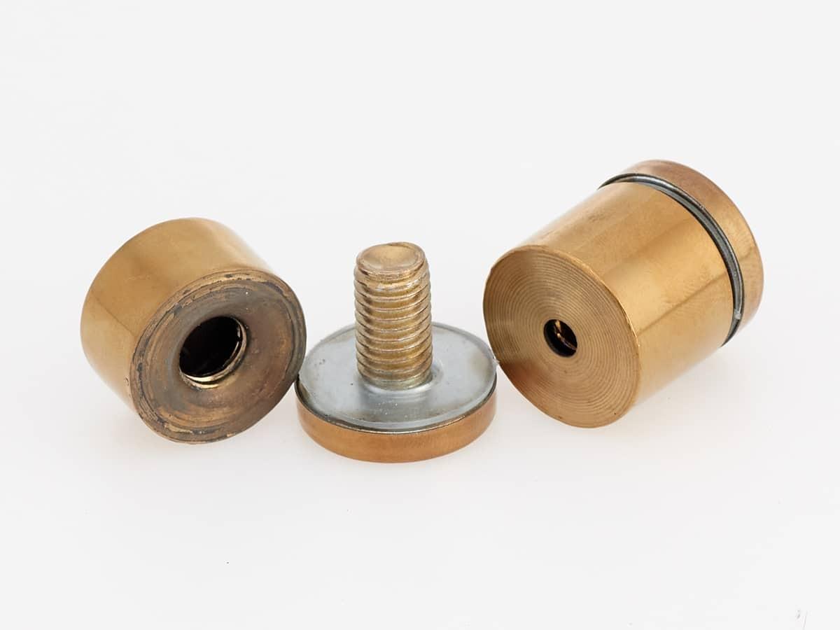 золотые дистанционные держатели для табличек из акрила и стекла
