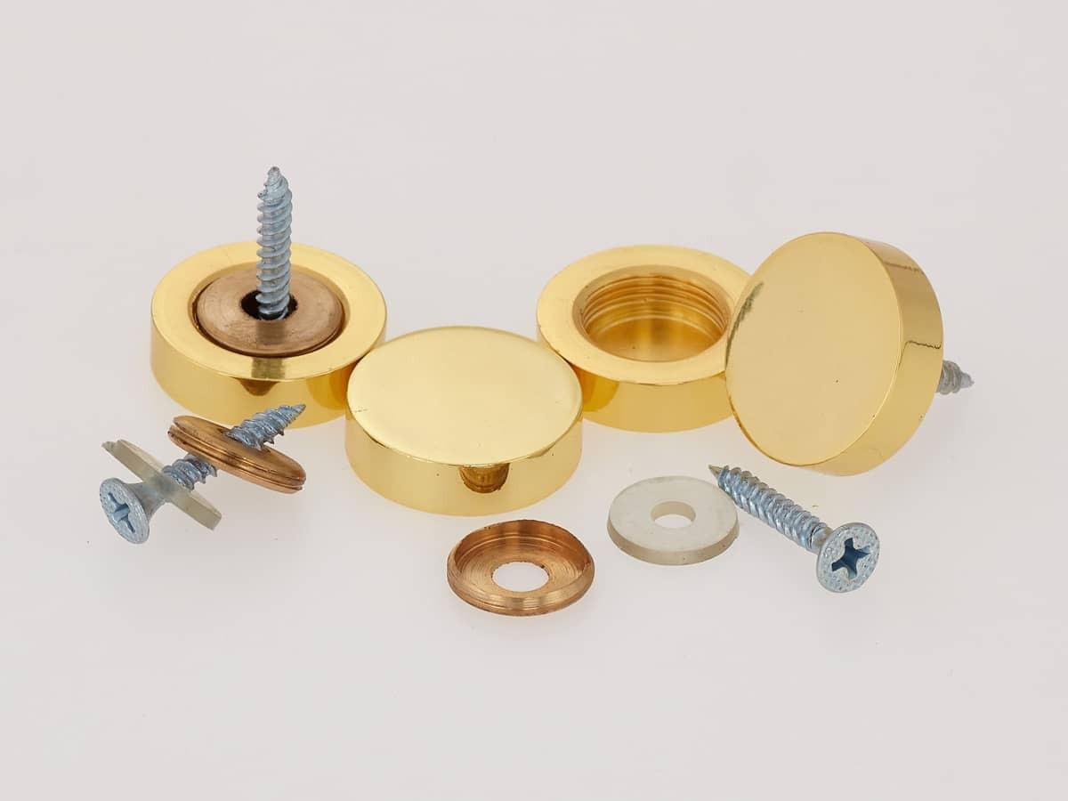 Металлические декоративные колпачки под золото
