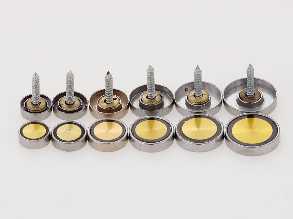 Декоративные колпачки со вставкой, золото. Диаметр 16, 18, 20, 22, 25 мм