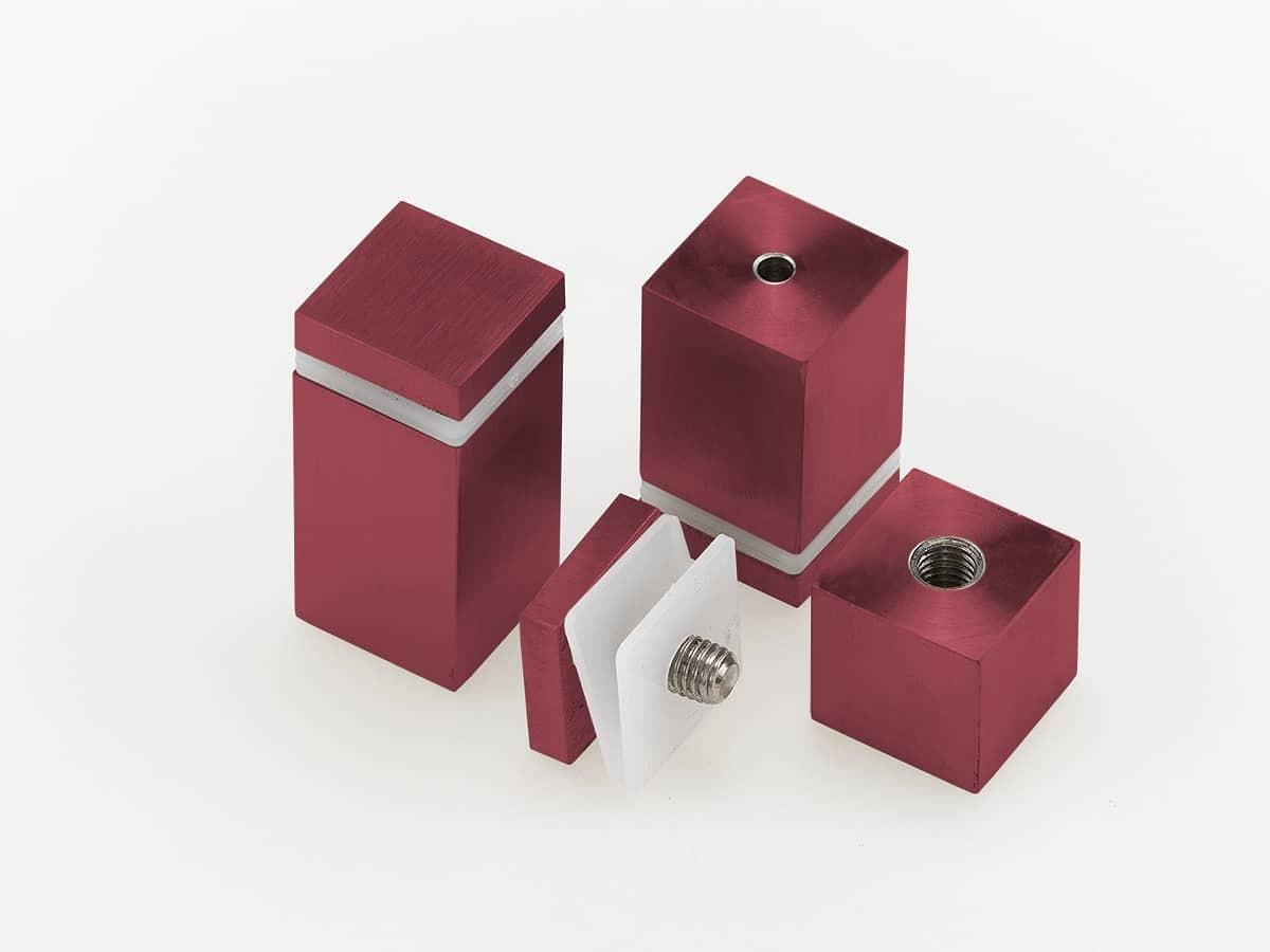 Дистанционный держатель квадратного сечения для стекла, красный