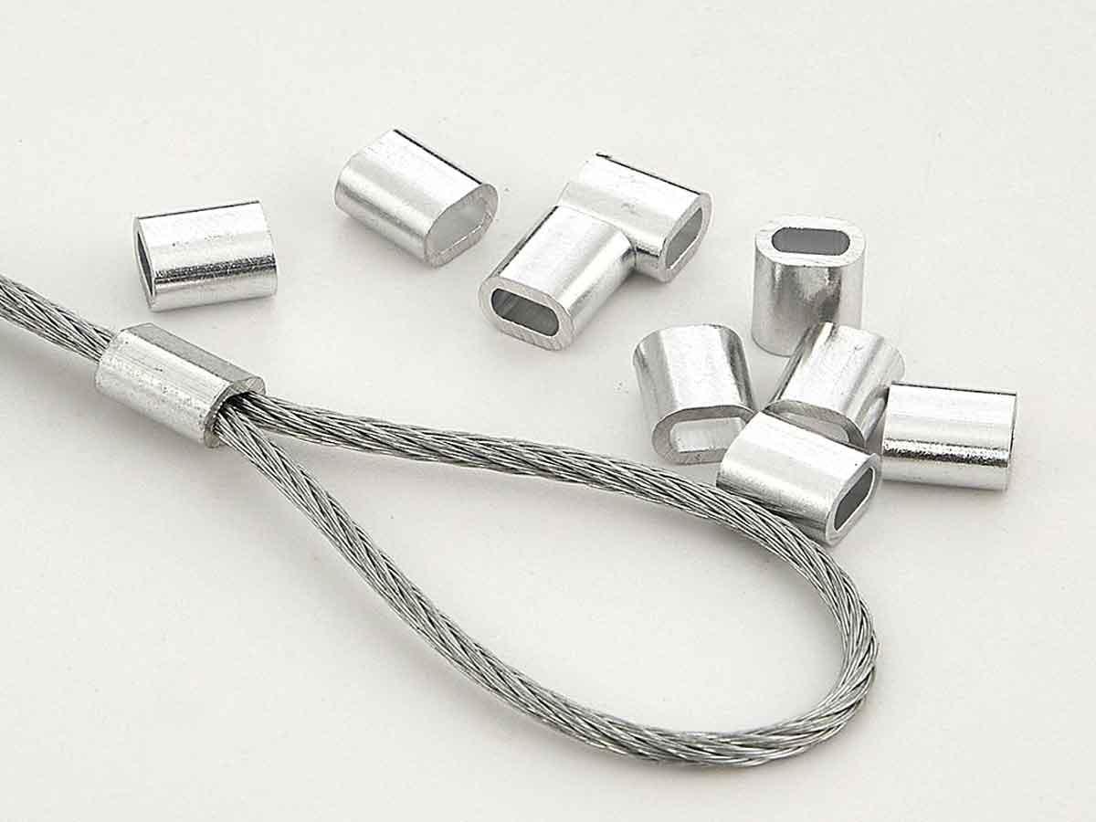 Зажим для опрессовки троса 2 мм, алюминиевый