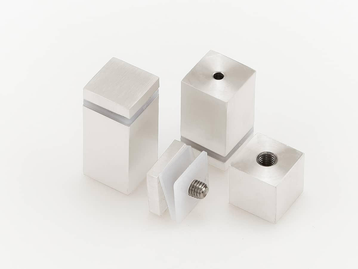 Белые дистанционные держатели квадратного сечения, металлические