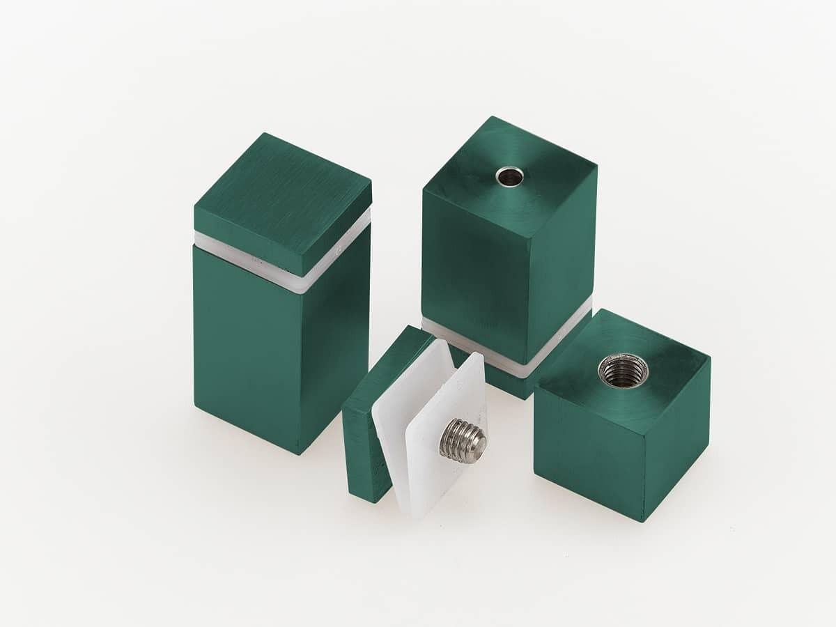 Дистанционный держатель квадратного сечения для табличек, зеленый