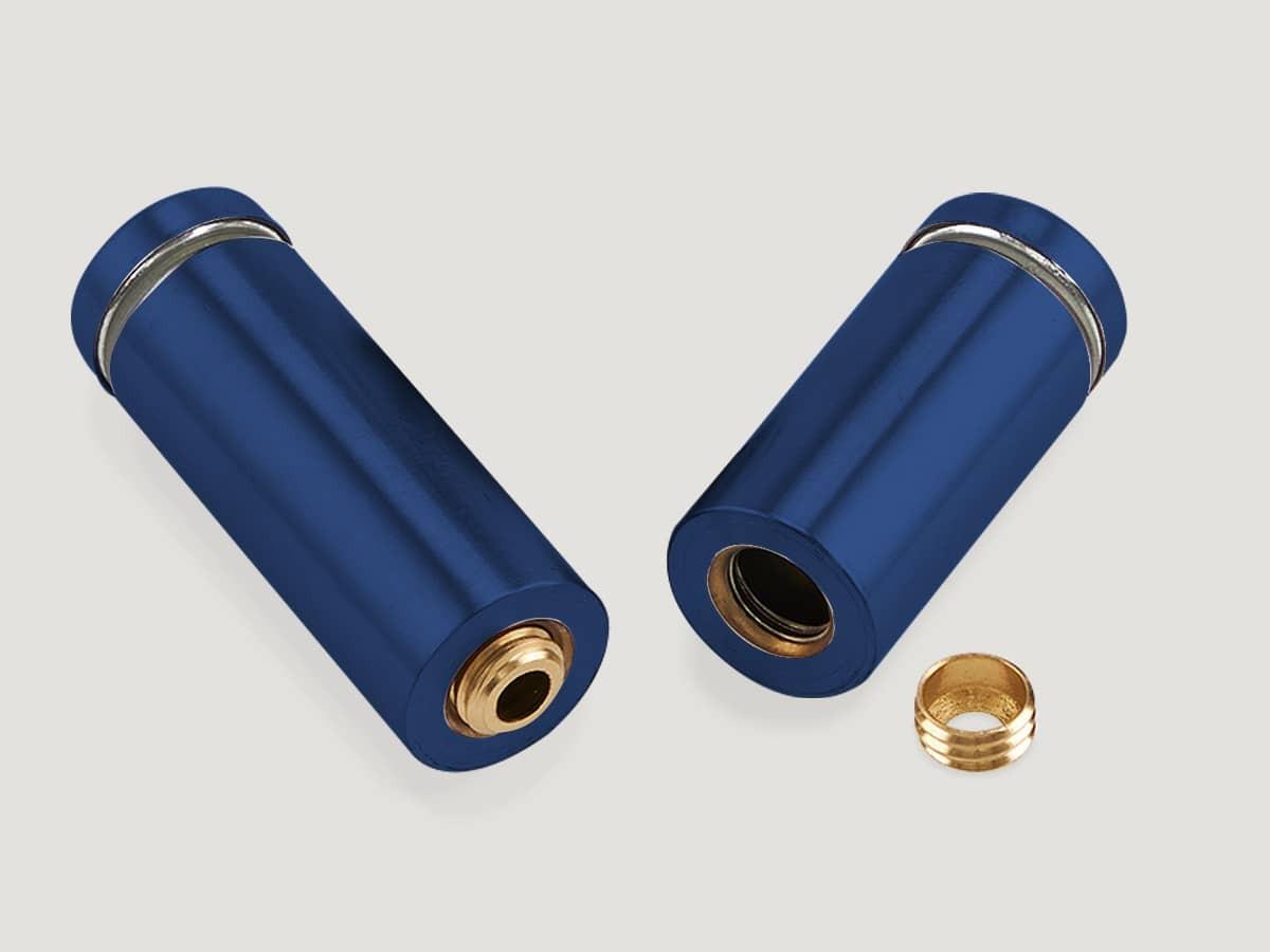 Дистанционные держатели для табличек, металлические, синие