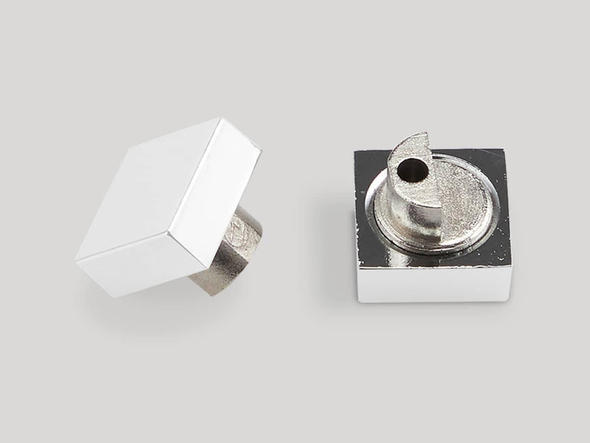 Белые держатели для зеркала на стену без сверления, квадрат